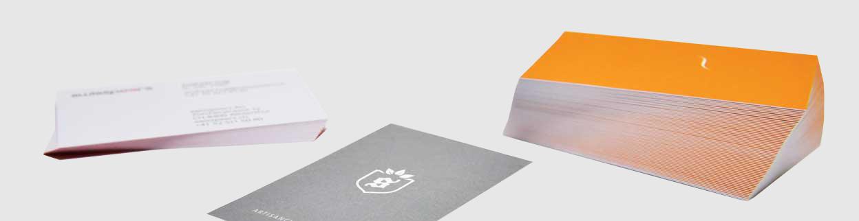 Visitenkarten Druck Prägung Farbe Und Veredelung